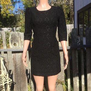 Plenty by Tracy Reese Black Crochet Lace Dress